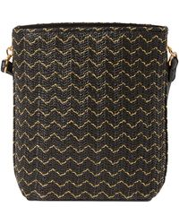 Dorothy Perkins - Black Weave Cross Body Bag - Lyst