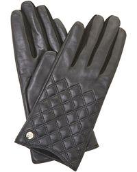 Dune - Black 'imerelda' Quilted Gloves - Lyst