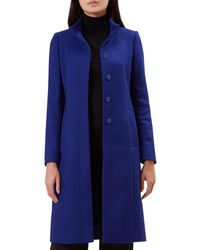 ac2329ee20 Hobbs - Bright Blue  athena  Coat - Lyst