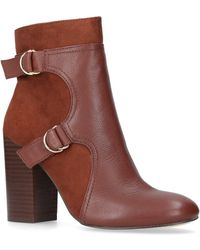 Nine West - Brown 'chipper' High Heel Ankle Boots - Lyst