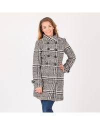 Anna Field - Multicoloured Double Breasted Houndstooth Coat - Lyst