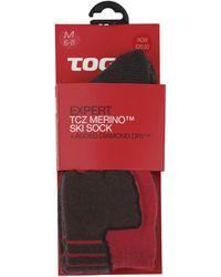 Tog 24 - Fire Red Expert Merino/diamond Dry Ski Sock - Lyst