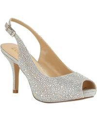 f76a02f6a2a8 Lotus - Silver Diamante  astro  High Stiletto Heel Slingbacks - Lyst