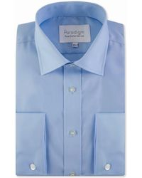 Double Two - Blue Double Cuff 100% Cotton Shirt - Lyst