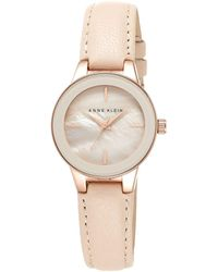 Anne Klein - Ladies Rose Gold-tone Watch With Blush Pink Leather Band Ak/n2032rglp - Lyst