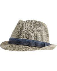 J By Jasper Conran - Cream And Navy Trilby Hat - Lyst