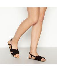 f379b891d76 Faith Black Suedette  julius  Gladiator Sandals in Black - Lyst