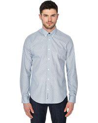 Ben Sherman - Navy Diamond Print Shirt - Lyst