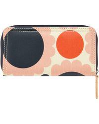 Orla Kiely - Pink Floral Print Wallet - Lyst