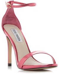 35722f1fc91 Steve Madden - Bright Pink  stecy  High Stiletto Heel Ankle Strap Sandals -  Lyst