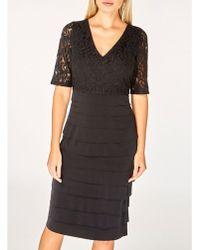 Dorothy Perkins - Black Lace Shutter Shift Dress - Lyst