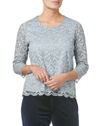 Eastex - Sparkle Lace Top - Lyst