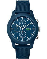 Lacoste - Men's Blue Strap Chronograph Watch 2010824 - Lyst