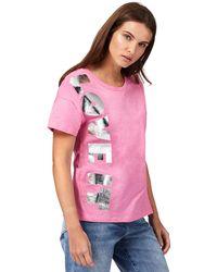 House of Holland - Pink 'love It' Slogan Print T-shirt - Lyst