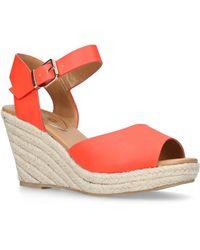 7e9bcf86f0b Miss Kg - Orange  paisley  High Heel Wedge Sandals - Lyst