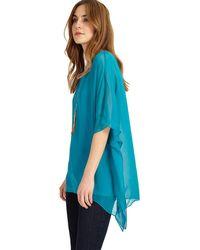 Phase Eight - Maggie Asymmetric Silk Blouse - Lyst