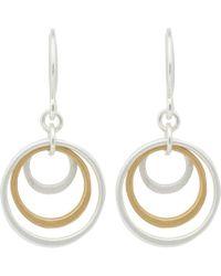 Pilgrim - Silver Plated 'lona' Drop Earrings - Lyst