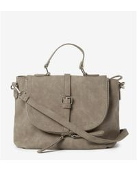 17bfc8b967 Dorothy Perkins Natural Double Zip Hobo Bag in White - Lyst