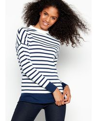 J By Jasper Conran - Ivory Breton Striped Turtleneck Jumper - Lyst
