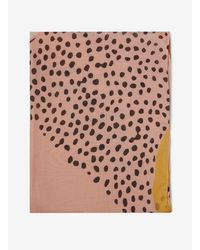 Dorothy Perkins - Orange Spot And Animal Print Scarf - Lyst