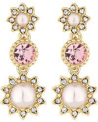 Jenny Packham - Designer Blush Pearl Drop Earrings - Lyst