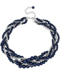 J By Jasper Conran - Designer Pearl Twist Necklace - Lyst