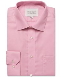 Double Two - Big And Tall Pink Single Cuff Cotton Shirt - Lyst