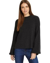 Phase Eight - Dark Charcoal 'francina' Flared Sleeves Knitted Jumper - Lyst