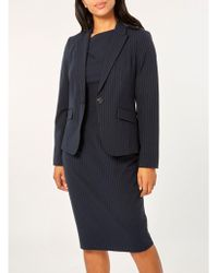 Dorothy Perkins - Navy Pinstriped Suit Jacket - Lyst