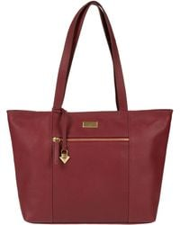 Cultured London - Ruby Red 'daphne' Leather Bag - Lyst