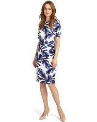 Phase Eight - Eloise Palm Print Dress - Lyst