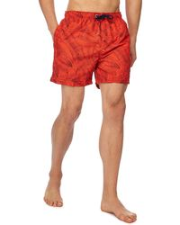 Red Herring - Big And Tall Orange Banana Leaf Print Swim Shorts - Lyst