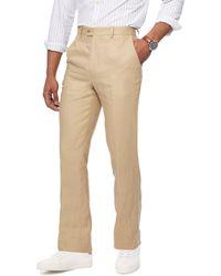 Racing Green - Light Tan Linen Trousers - Lyst
