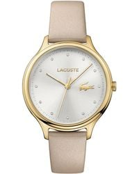 Lacoste - Ladies Cream Strap Watch - Lyst