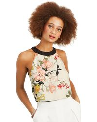 Oasis - Multi Natural Scarf Asymmetric Shell Top - Lyst
