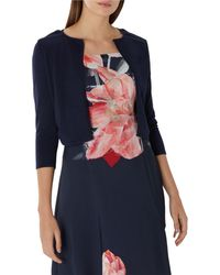 Coast - Navy Blue 'mab' 3/4 Sleeve Cover Up - Lyst