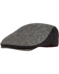 J By Jasper Conran - Grey Panelled Tweed Flat Cap - Lyst
