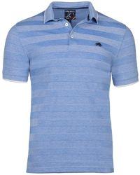 Raging Bull - Mid Blue Texture Stripe Polo - Lyst