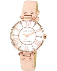 Anne Klein - Ladies Light Pink Leather Strap Watch 10/n9918rglp - Lyst