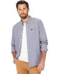 Lee Jeans - Blue Button Down Collar Shirt - Lyst