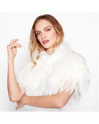 Jenny Packham - Ivory Feather Shrug - Lyst