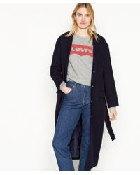 Levi's - Navy Belted 'frida' Trench Coat - Lyst