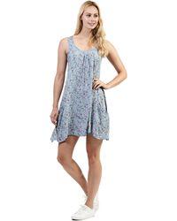 Izabel London - Blue Floral Print Sleeveless Dress - Lyst