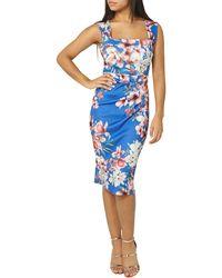 Dorothy Perkins - Scarlett B Blue Floral Lara Bodycon Dress - Lyst