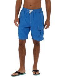 Regatta - Blue 'hotham' Swim Board Shorts - Lyst