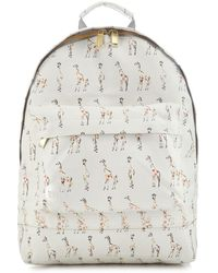 Mi-Pac - White Giraffe Print Backpack - Lyst