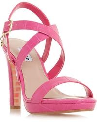 Dune - Pink 'misstee' High Stiletto Heel Ankle Strap Sandals - Lyst