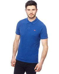 87cb48a2ac6b Levi's Navy Striped Polo Shirt in Blue for Men - Lyst
