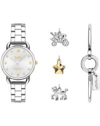 COACH - Ladies Silver 'delancey' Watch - Lyst