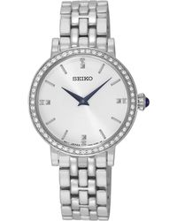 Seiko - Ladies Silver Quartz Bracelet Watch Sfq811p1 - Lyst